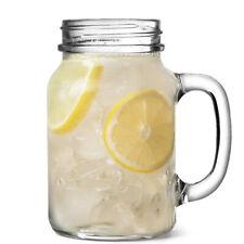 Mason Drinking Jar Glasses 20oz / 1 Pint - Set of 4 - Jam Jar Glasses Go Jar