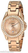 Fossil Women's Riley Rose Gold-Tone Stainless Steel Watch ES2889
