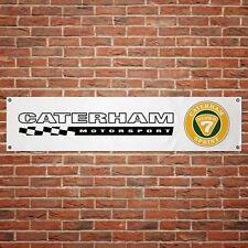 Caterham Motorsport Car Banner Garage Workshop PVC Sign Trackside Display