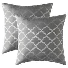 Set of 2 Jacquard Geometric Throw Pillow Case Sofa Waist Cushion Cover Home Deco