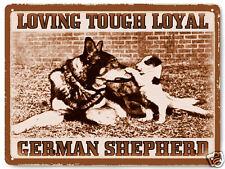 German Shepard Metal sign pet dog vintage style great gift wall decor art 268