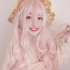 Peach Pink Hair Cosplay Costume Performance Prom Stylish Party Kawaii Wig
