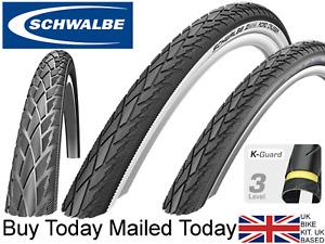 Schwalbe Road Cruiser 24 x 1.75 K-Guard Bike Tyre Black Reflex White Wall 47-507