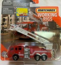 Matchbox - Working Rigs - Pierce Velocity Aerial Platform Fire Truck - San Diego