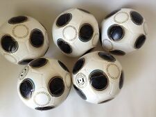 5 Soccer Ball size #4 Color Black White  Blue Lot New Team Sport Training Games