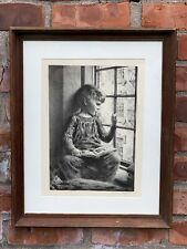 American Scene Artist James Chapin. Lithograph Portrait Of Son In Window. Signed