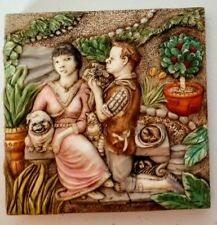Picturesque Harmony Kingdom Tile Byron's Secret Garden Love's Labours
