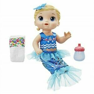 NEW & FREE SHIPPING! BABY ALIVE SHIMMER 'N SPLASH MERMAID, AGES 3+