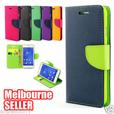 Xperia Z3 Colorful Flip Gel Leather Wallet Case Cover for Sony