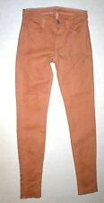 New J Brand Jeans Skinny Womens Coated Peach Leather Mid 26 Tigers Eye Pants USA