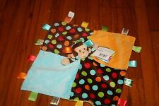 Taggies signature collection monkey security blanket NWT