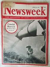 1943 Newsweek June 28 - Memphis Belle bomber returns; Charlie Chaplin weds;