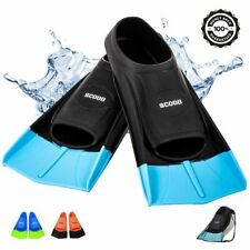 SCOOB Swimming Training Fins Short Blade Swim Flippers For Snorkel Diving Pool