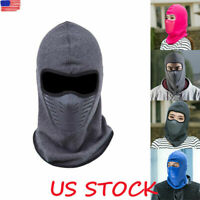 Winter Motorcycle Thermal Fleece Ski Balaclava Full Face Neck Mask Cap Warm Hat