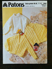 "Patons Knitting Pattern: Baby Cardigans & Sweater, DK, 18-22"", 1660"
