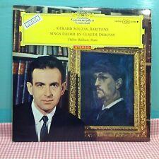 DGG RED STEREO TULIP - Debussy - GERARD SOUZAY - Lieder BALDWIN SLPM 138 758 LP