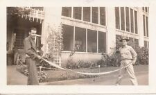 1940s Schofield Soldiers Photo  with machine gun ammo belt