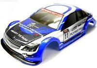 12381 1/10 Scale Drift Touring Car Body Cover Shell RC Blue Cut