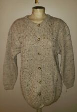 Vintage Highland Home Industries Scotland cable wool cardigan sweater M beige