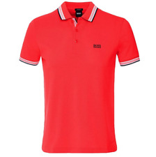 Hugo Boss Paddy Polo Shirt in Bright Red, BNWT, RRP £75