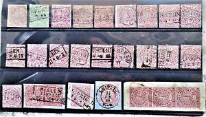 Norddeutscher Postbezirk * Gestempelt * 25 Stück * STETTIN BAHNH. * BERLIN POST