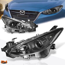 For 14 17 Mazda 3 Projector Headlight Oe Replacement Black Housing Clear Corner Fits Mazda 3