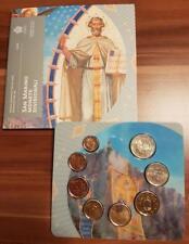 San Marino 2018 BU set KMS Divisionale serie zecca 8 monete 3,88 folder