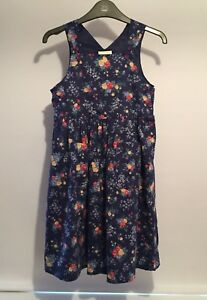 Pristine Condition - Laura Ashley Mother & Child Floral Blue/Navy Dress- 5 Years