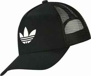 Adidas Trucker Hat Baseball Cap Black White Summer  Adults One Size Adjustable