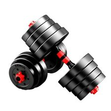 1 Pair Adjustable Weight Dumbbells Set Weights Fitness Gym Exercise 10kg/22lbs