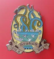 Have A Kraken Day Pin Sailor Ocean Enamel Retro Metal Brooch Badge Lapel