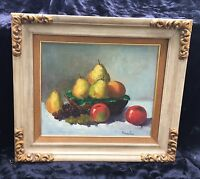 Beautiful Impressionist Still Life Oil  - Signed in Great Mid-Century Frame