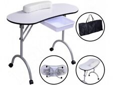 PORTABLE FOLDABLE MANICURE TABLE WITH DRAWER AND CARRY BAG NAIL ART 98x77x44 CM