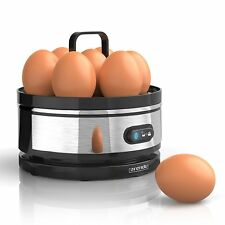 Eierkocher für 1 bis 7 Eier Sevencook Kocher mit Einsatz gebürsteter Edelstahl
