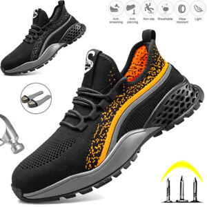 Mens Lightweight Safety Shoes Steel Toe Cap Women Work Boots Trainers Hiking UK