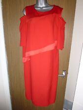 principles red tunic cold shoulder dress size 14