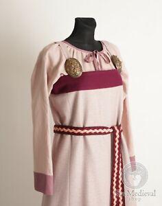 Viking Apron wool dress, Scandinavian top dress, viking costume saxon kirtle