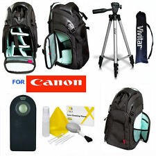 "VIVITAR 50"" TRIPOD + LARGE BACKPACK + REMOTE FOR CANON EOS T3I T4I T5I T6 T6I T5"