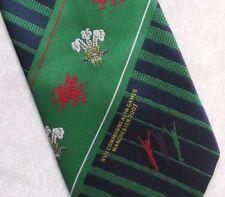 Manchester 2002 Tie Commonwealth Games Vintage con XVII Verde Blu Scuro Sport