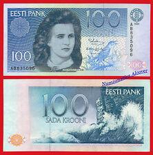 ESTONIA 100 Krooni 1991 Pick 74 SC UNC