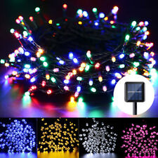 200 300 400LED Fairy String Lights Solar Power Outdoor Garden Party Fence Lights