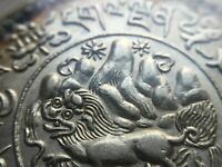 Tibet 1936  ( BE 1610 ) 3 Srang Silver Coin .Y-26 LM-658. PCGS MS 62. China 西藏獅圖