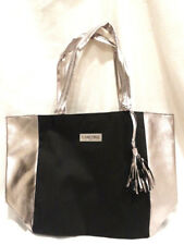 """New! Lancome Black & Silver Tote Bag with Tassel , 11"""" x 11"""" x 6"""""""