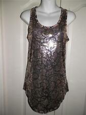 ANTHROPOLOGIE SILENCE & NOISE Multi Print Sequin Tunic Tank Top XS X Small
