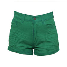 Cintna Colored High-waist Shorts Green Large