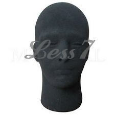 Black Styrofoam Hats Holder Foam Mannequin Male Head Stand Model Display