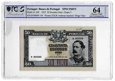 More details for 1953 portugal portugese 50 escudos banknote specimen tdlr p160 choice unc 64