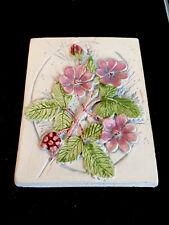 More details for linnea smaland jie gantofta sweden 707 20 small floral wall art plaque 1988