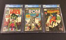MARVEL #1 CGC Comic Lot ROM #1 9.6 SHE-HULK #1 9.6 SPIDER-WOMAN #1 9.4 1st App