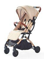 Khaki Stroller for Kids Lightweight Buggy Easy Fold Travel Stroller Buggy Cabin